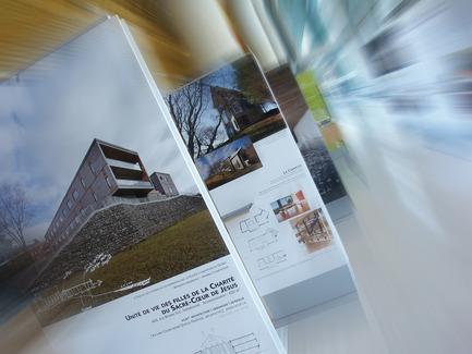 Dossier de presse | 774-08 - Communiqué de presse | Exposition « Parcours littéraire d'une architecture gagnante » à Québec - L'Ordre des architectes du Québec (OAQ) - Évènement + Exposition - Crédit photo : BAnQ