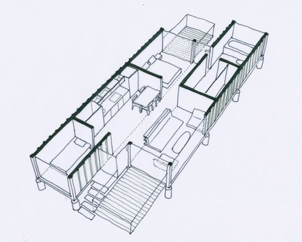 Press kit | 839-01 - Press release | Containers of Hope - Benjamin Garcia Saxe Architecture - Residential Architecture