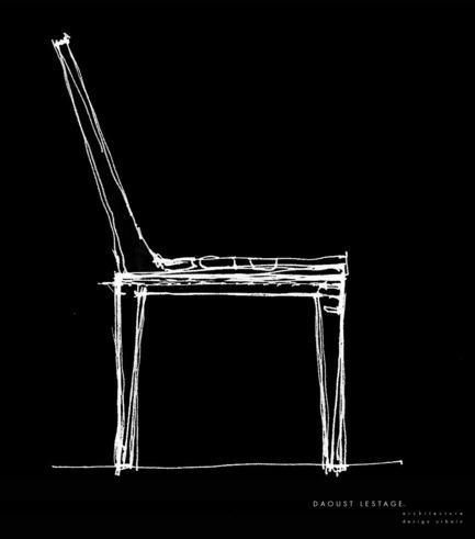 Press kit | 821-01 - Press release | Collection Esplanade - Equiparc - Product - Sketch par Réal Lestage - Photo credit: Daoust Lestage