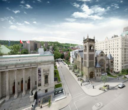 Dossier de presse | 696-05 - Communiqué de presse | Le Musée des beaux-arts de Montréal dévoile l'architecture de son nouveau pavillon d'art québécois et canadien et de sa nouvelle salle de concert - Musée des beaux-arts de Montréal (MBAM) - Architecture institutionnelle - Crédit photo : MBAM