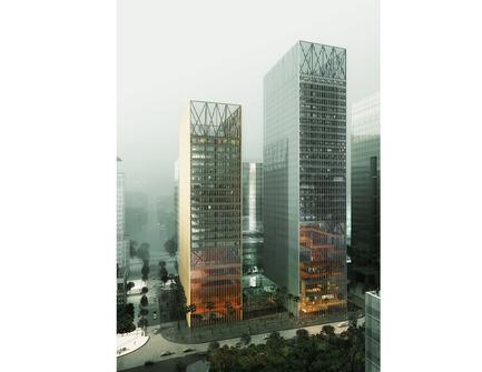 Dossier de presse | 809-05 - Communiqué de presse | Azure announces the finalists of the second annual AZ Awards - Azure Magazine - Concours - Firm:&nbsp;REX+JET+AIM<br>Project:&nbsp;Two Office Towers