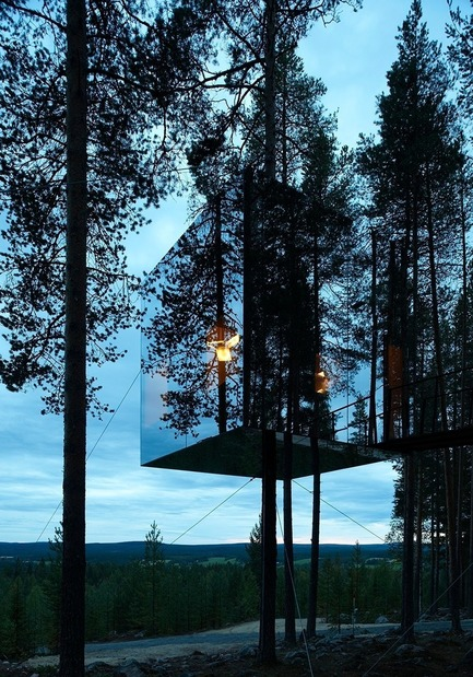 Dossier de presse | 661-05 - Communiqué de presse | World Architecture Festival Awards shortlist announced - World Architecture Festival (WAF) - Concours - Architect Tham &amp; Videgård Arkitekter<br>Tree Hotel, Harads, Sweden - Crédit photo : Ake Eson Lindman