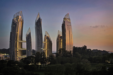 Press kit | 1028-02 - Press release | Winning projects announced at the 2012 Emirates Glass Leaf Awards - The Emirates Glass LEAF Awards - Competition - Special Awards went to Studio Daniel Libeskind, DCA Architects PTE Ltd, with Reflections at Keppel Bay