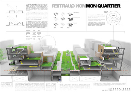 Press kit | 801-06 - Press release | Announce of the results of the urban design ideas contest for the Quartier Latin - Arrondissement de Ville-Marie - Competition -  WINNER<br><br>Poncelet-Boucher<br>Éric Boucher<br>MON QUARTIER<br>