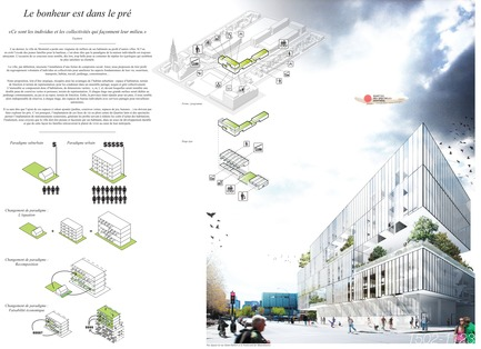 Press kit | 801-06 - Press release | Announce of the results of the urban design ideas contest for the Quartier Latin - Arrondissement de Ville-Marie - Competition -   POPULAR ONLINE FAVOURITE&nbsp;<br><br>Atelier Barda/ Patrick Morand<br>Patrick Morand<br>LE BONHEUR EST DANS LE PRÉ
