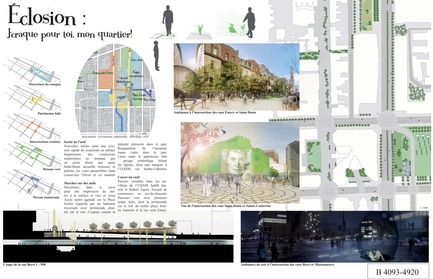 Press kit | 801-06 - Press release | Announce of the results of the urban design ideas contest for the Quartier Latin - Arrondissement de Ville-Marie - Competition - MENTION OF THE JURY<br><br>Les projets Lavigne + Zaraté inc.&nbsp;<br>Jean François Lavigne, Architecte<br>LE PROJET ÉCLOSION
