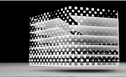 Press kit | 756-01 - Press release | Other Space Odysseys - Canadian Centre for Architecture (CCA) - Event + Exhibition - Michael Maltzan, Architect, New building for the Jet Propulsion Laboratory, Pasadena, California, 2006-, model.