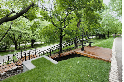 Press kit | 602-04 - Press release | Peel Entrance – Mount Royal Park - Lemay+CHA (Lemay) - Landscape Architecture - Marc Cramer - Photo credit: Marc Cramer