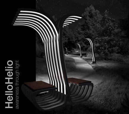 Dossier de presse | 512-04 - Communiqué de presse | Outdoor lighting concepts rewarded at the SIDIM - Fondation CLU de Philips Lumec - Competition - FINALISTE<br>Marcel Perez-Pirio et Dane Pressner / HelloHelio<br><br>Brooklyn, USA<br>