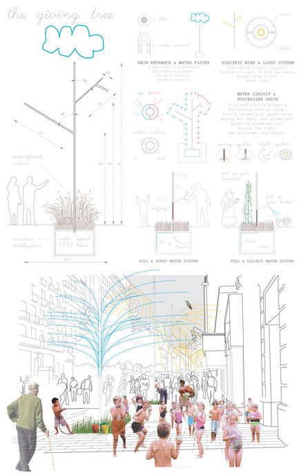Press kit | 512-04 - Press release | Outdoor lighting concepts rewarded at the SIDIM - Fondation CLU de Philips Lumec - Competition - FINALISTE<br>Marina Huguet i Blasi / The giving tree<br><br>Barcelona, Spain
