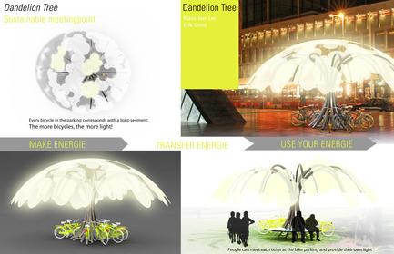 Dossier de presse | 512-04 - Communiqué de presse | Outdoor lighting concepts rewarded at the SIDIM - Fondation CLU de Philips Lumec - Competition - TROISIÈME PRIX / EX-AEQUO<br><span></span>Klass Jan Lei et Erik Smid / Dandelion Tree<br><br>Amsterdam, The Netherlands<br>