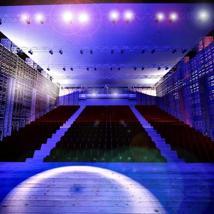 Dossier de presse | 773-01 - Communiqué de presse | L'Opéra-palette à la Quadriennale du design et de l'espace vivant de Prague en juin 2011 - Jacques Plante & Pascale Pierre - Évènement + Exposition - Auditorium view - Crédit photo : Alexandre Guérin