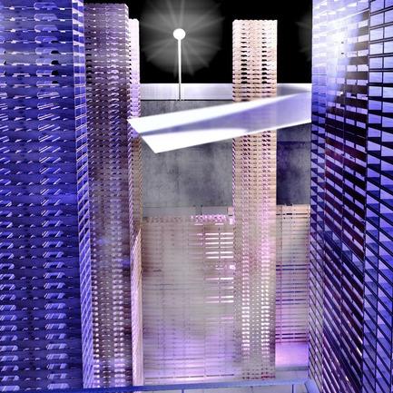 Dossier de presse | 773-01 - Communiqué de presse | L'Opéra-palette à la Quadriennale du design et de l'espace vivant de Prague en juin 2011 - Jacques Plante & Pascale Pierre - Évènement + Exposition - Smoke experiment - Crédit photo : Alexandre Guérin