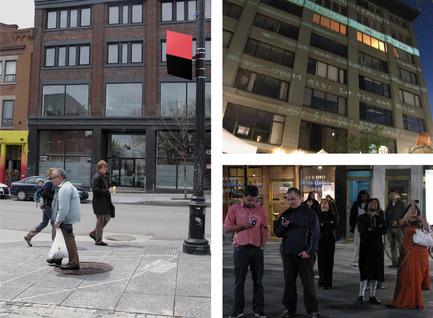 Press kit | 562-04 - Press release | Mouna Andraos et Melissa Mongiat, lauréates de la Bourse Phyllis-Lambert Design Montréal 2010 - Bureau du design - Ville de Montréal - Concours - LA CONSPIRATION DU BIEN, MONTRÉAL<br><span></span>Expérience multi-plateformes<br>Réalisation pour Amuse, lancé dans le cadre de la Biennale de Montréal 2009 et du festival MUTEK
