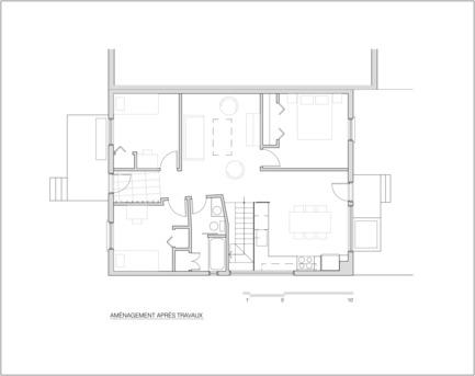 Dossier de presse | 1105-03 - Communiqué de presse | Un étage en ville - ou agrandir par l'intérieur - Anik Péloquin architecte - Architecture résidentielle - Crédit photo :         Anik Peloquin
