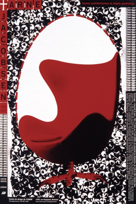 Dossier de presse | 748-15 - Communiqué de presse | Exposition « Alfred en liberté » au Centre de design de l'UQAM : les affiches d'Alfred Halasa - Centre de design de l'UQAM - Évènement + Exposition -         Arne Jacobsen, 2002 Alfred Halasa