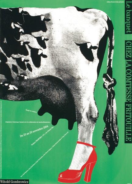 Dossier de presse | 748-15 - Communiqué de presse | Exposition « Alfred en liberté » au Centre de design de l'UQAM : les affiches d'Alfred Halasa - Centre de design de l'UQAM - Évènement + Exposition -         Le banquet chez la Comtesse Fritouille, 2004 Alfred Halasa