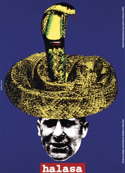 Dossier de presse | 748-15 - Communiqué de presse | Exposition « Alfred en liberté » au Centre de design de l'UQAM : les affiches d'Alfred Halasa - Centre de design de l'UQAM - Évènement + Exposition -         Biennale internationale d'affiches de Mexico, 2002 Alfred Halasa