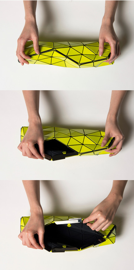 "Press kit | 1148-01 - Press release | Bao Bao Issey Miyake and N&R Foldings create ""Distortion"" - the futuristic bag - N&R Foldings - Fashion Design - Photo credit: Issey Miyake"
