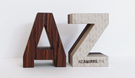 Press kit | 809-12 - Press release | Azure announces the winners of the fourth annual AZ Awards - Azure Magazine - Competition - AZ Awards 2014 trophy by Alpi