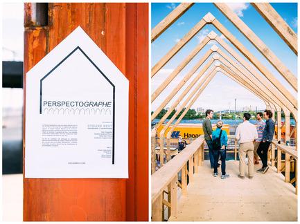 Dossier de presse | 1039-08 - Communiqué de presse | Inauguration du Village Éphémère20 juin - 16 août 2014 - Association du design urbain du Québec (ADUQ) - Évènement + Exposition - Crédit photo : Jean-Michael Seminaro