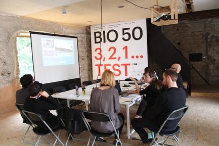 Dossier de presse | 1171-01 - Communiqué de presse | Fast approaching BIO 50 starts September 18th 2014 - Museum of Architecture and Design (MAO), Ljubljana - Évènement + Exposition - Nanotourism team meeting at MAO - Crédit photo : Tomislav Vidovic