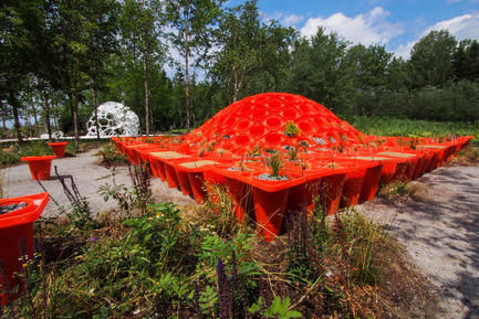 Press kit | 837-08 - Press release | Le 15e Festival international de jardins des Jardins de Métis séduit les visiteurs - Festival international de jardins / Jardins de Métis - Event + Exhibition -   CONE GARDEN BOCKSILI by&nbsp;Livescape [Seungjong Yoo, Byoungjoon Kwon, Hyeryoung Cho, Yongchul Cho, Iltae Jeong, Jinhwan Kim, Soojung Yoon, Byoungjoon Kim]<br>Seoul, South Korea   - Photo credit: Louise Tanguay