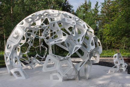 Press kit | 837-08 - Press release | The Gardens of the 15th International Garden Festival seduce visitors - International Garden Festival / Reford Gardens - Event + Exhibition -   MÉRISTÈME by Châssi [Marie-Josée Gagnon, Caroline Magar, François Leblanc]<br>Montréal (Québec) Canada   - Photo credit: Louise Tanguay
