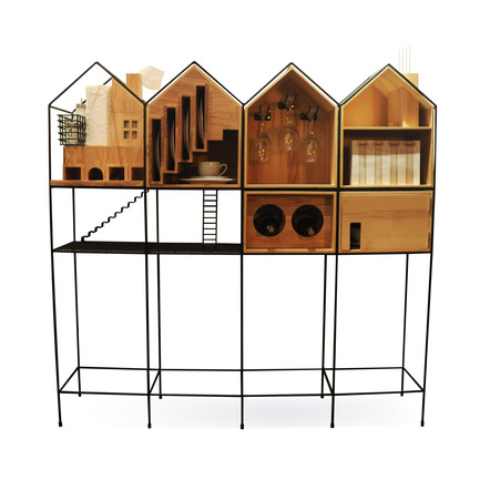 "Dossier de presse | 902-02 - Communiqué de presse | A' Design Awards 2014 Les Gagnants Annoncés - A' Design Award and Competition - Concours -  Baan <br>Dinner set cupboard by Mr.Paitoon Keatkeereerut,Chawin Hanjing<br><br>PROJECT DESCRIPTION:<br>""Baan"" is a type of cupboard which is specifically designed for the purpose of dinner usage. The strengths and unique appearance is narrative that is related by function. There are several distinguishing features of cabinet systems. The different functions and features of cupboard that are separated by story, such as The Cutlery insert and Box of tissues are represented by fireplace and chimney. Furthermore, The wine glasses are represented by a chandelier and Dish rack is symbolized by the staircase. There are four main components of house whereby narrative ideas can be used to support daily life.  - Crédit photo : Paitoon Keateereerut,Supanee suriwong,BAAN,2013."