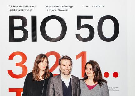 Press kit | 1171-02 - Press release | Countdown to the opening of BIO 50, the Biennial of Design in Ljubljana, Slovenia - Museum of Architecture and Design (MAO), Ljubljana - Event + Exhibition - Maja Vardjan, Jan Boelen and Cvetka Pozar, curatorial team of BIO 50.  - Photo credit: Lucijan & Vladimir.