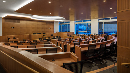 Press kit | 1204-01 - Press release | New Fordham Law School by Pei Cobb Freed & Partners to be Dedicated on September 18 - Pei Cobb Freed & Partners - Institutional Architecture - Moot Court - Photo credit: Paul Warchol