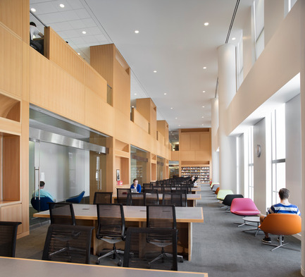 Press kit | 1204-01 - Press release | New Fordham Law School by Pei Cobb Freed & Partners to be Dedicated on September 18 - Pei Cobb Freed & Partners - Institutional Architecture - Library reading room - Photo credit: Paul Warchol
