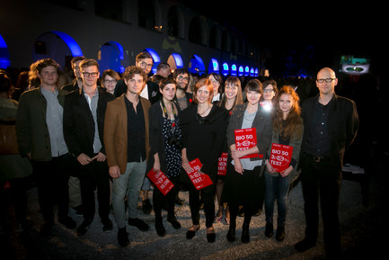 Press kit | 1171-03 - Press release | The Winners of the Best Collaboration Awards were revealed at the opening of BIO 50 - Museum of Architecture and Design (MAO), Ljubljana - Event + Exhibition - Nanotourism group members and mentors, winners of the BIO 50 Best Collaboration Award - Photo credit: Ana Kovac/MAO