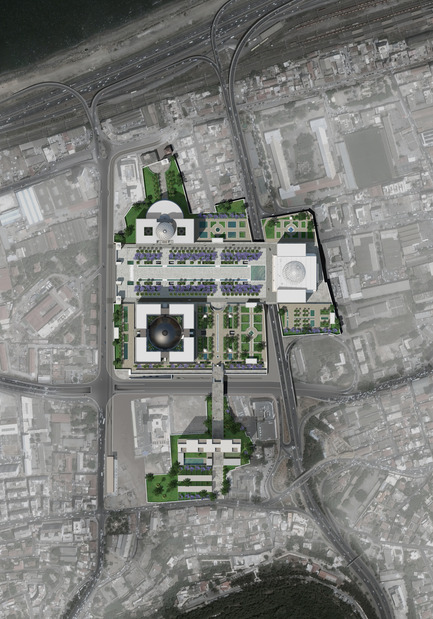 Press kit | 1188-03 - Press release | New Algerian Parliament - Bureau Architecture Méditerranée - Institutional Architecture - New Algerian parliament<br>Parliament - Senate - Congress -&nbsp;Ground plan<br> - Photo credit: Bureau Architecture Méditerranée