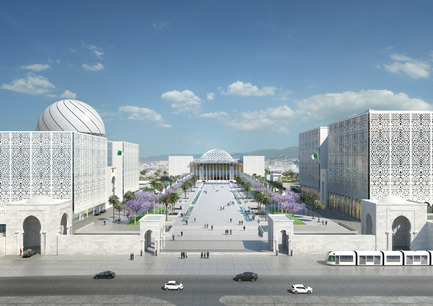 Press kit | 1188-03 - Press release | New Algerian Parliament - Bureau Architecture Méditerranée - Institutional Architecture -  New Algerian Parliament <br>Parliament - Senate - Congress<br>  - Photo credit: Bureau Architecture Méditerranée