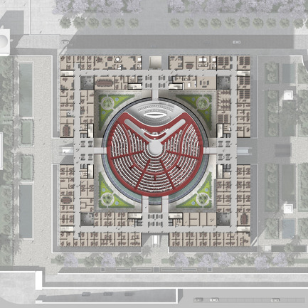 Press kit | 1188-03 - Press release | New Algerian Parliament - Bureau Architecture Méditerranée - Institutional Architecture -  People's National Assembly - Republic of Algeria<br>Plan  - Photo credit: Bureau Architecture Méditerranée