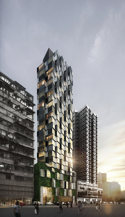 Dossier de presse | 1028-04 - Communiqué de presse | Announcing the winners of the LEAF Awards 2014 - LEAF International - Competition - Best Future Building of the Year - Under Construction<br>Aedas, Mongkok Residence, Hong Kong - Crédit photo :   Photo courtesy LEAF Awards