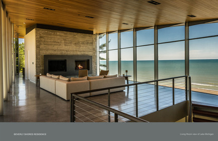 Press kit | 1389-01 - Press release | AIA Chicago honors the worldwide presence of outstanding work from Chicago architecture firms - AIA Chicago - Competition - HONOR AWARD<br> Beverly Shores Residence – Beverly Shores, IN – Booth Hansen <br>  - Photo credit:         Bruce Van Inwegen, Van Inwegen Digital Arts