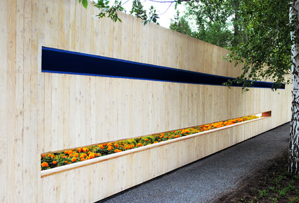 Dossier de presse | 837-10 - Communiqué de presse | The 16th International Garden Festival at Les Jardins de Métis / Reford Gardens will BUZZ in 2015! - International Garden Festival / Reford Gardens - Architecture de paysage -     SECRET ORANGE<br>de Nomad Studio [William E. Roberts, Laura Santin] New York, États-Unis<br><br>En jouant avec la perception et la façon dont nous réagissons dans les espaces clos, le jardin explore des nuances d'orange en isolant cette caractéristique visuelle des nombreux stimuli perceptibles par nos sens.<br><br>www.thenomadstudio.net - Crédit photo : Sylvain Legris