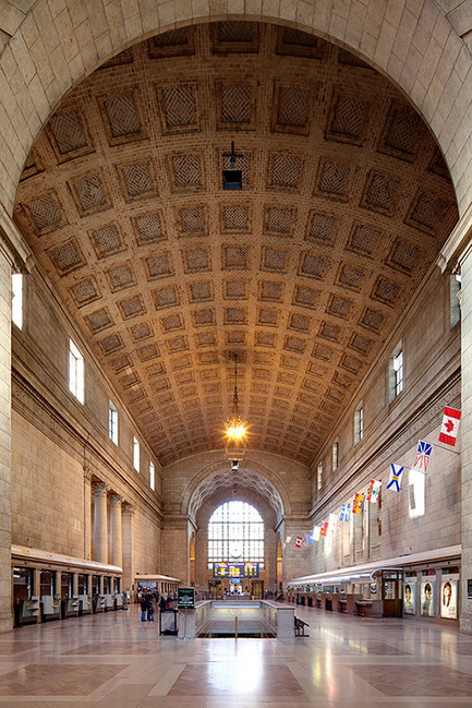 Dossier de presse | 612-09 - Communiqué de presse | Julia Gersovitz receives the Harley J. McKee Award - Fournier, Gersovitz, Moss, Drolet et associés architectes (FGMDA) - Institutional Architecture -    Great Hall, Union Station Revitalization Project, Toronto, with NORR<br>    - Crédit photo : Francis Tousignant, FGMDA