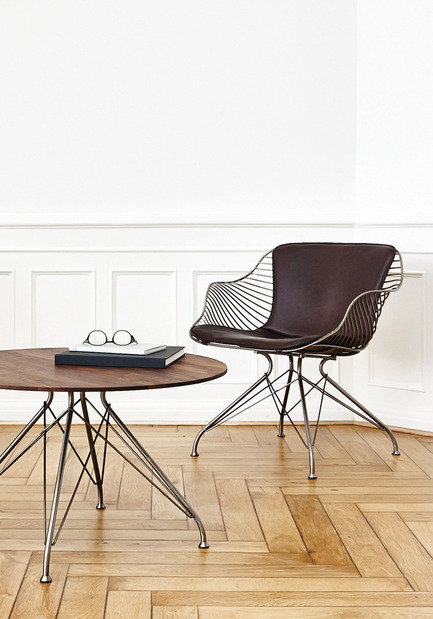 Press kit | 1124-03 - Press release | World Interiors News Annual Awards 2014 Winners Announced - World Interiors News - Competition - Winner of Furniture Category<br>Wire Lounge Chair by Overgaard &amp; Dyrman - Photo credit: Photos Courtesty of Overgaard &amp; Dyrman