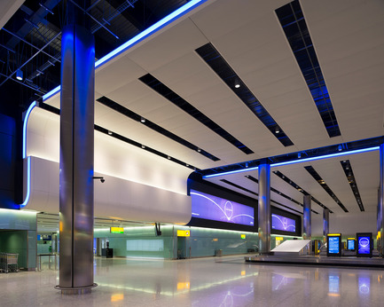 Press kit | 1124-03 - Press release | World Interiors News Annual Awards 2014 Winners Announced - World Interiors News - Competition - 8 Winner of Lighting Projects Category<br>Heathrow Terminal 2, The Queen's Terminal by StudioFRACTAL &amp; Hoare Lea Lighting - Photo credit: James Newton