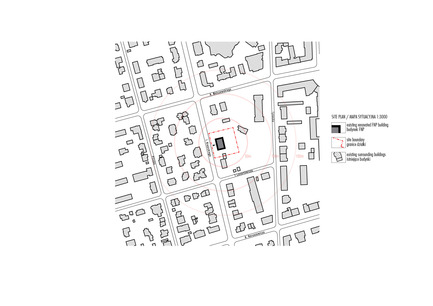 Press kit | 1139-03 - Press release | Foundation for Polish Science Headquarters - FAAB Architektura - Commercial Architecture - Site plan 1:3000<br> - Photo credit: © FAAB Architektura