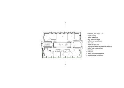 Press kit | 1139-03 - Press release | Foundation for Polish Science Headquarters - FAAB Architektura - Commercial Architecture - Second level 1:250 - Photo credit: © FAAB Architektura