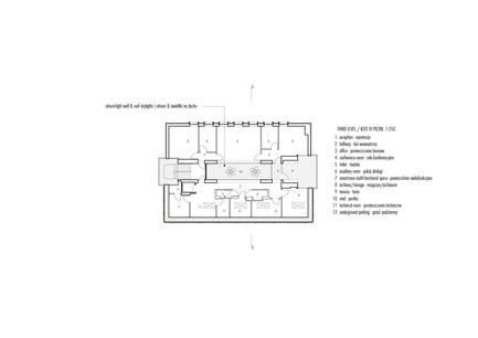 Press kit | 1139-03 - Press release | Foundation for Polish Science Headquarters - FAAB Architektura - Commercial Architecture - Third level 1:250 - Photo credit: © FAAB Architektura