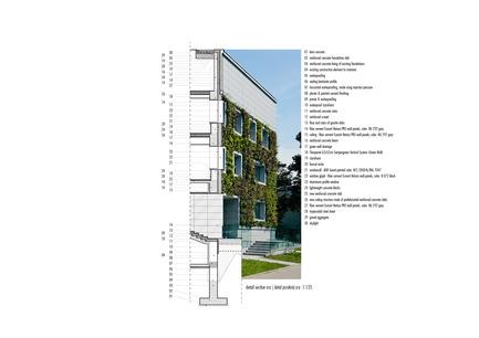 Dossier de presse | 1139-03 - Communiqué de presse | Siège social de la Fondation pour la Science Polonaise - FAAB Architektura - Architecture commerciale - Detail section A-A 1:125 - Crédit photo : © FAAB Architektura