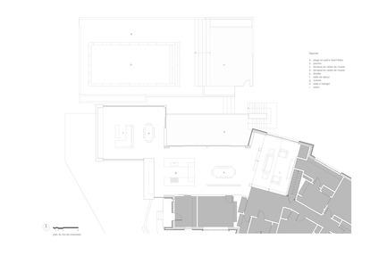 Press kit | 1572-01 - Press release | Résidence Prince-Philip - Thellend Fortin Architectes - Architecture résidentielle - plan du rez-de-chaussée - Photo credit: Thellend Fortin Architectes