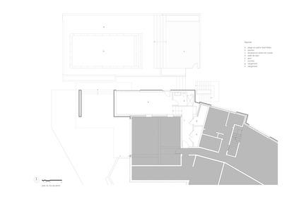 Press kit | 1572-01 - Press release | Résidence Prince-Philip - Thellend Fortin Architectes - Architecture résidentielle - plan du rez-de-jardin - Photo credit: Thellend Fortin Architectes