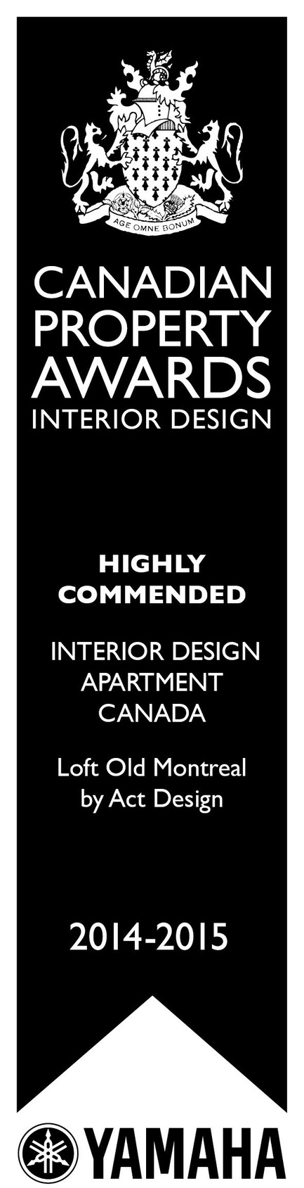 Press kit | 1179-01 - Press release | ActDesign is honoured by the prestigious International Property Awards for the interior design of a loft in Old Montreal - ActDesign - Residential Interior Design - Photo credit: -