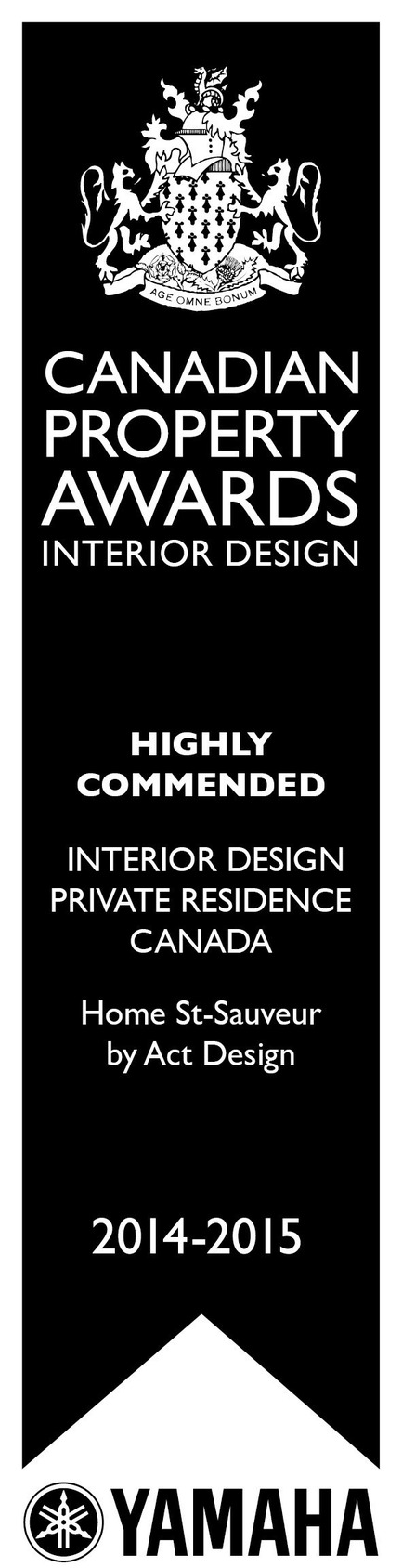 Press kit | 1179-02 - Press release | ActDesign is honoured by the prestigious International Property Awards for the interior design of the Saint-Sauveur residence. - ActDesign - Residential Interior Design - Photo credit: -